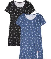 camicia da notte (pacco da 2) (blu) - bpc bonprix collection