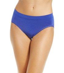 women's wacoal b-smooth high cut panties, size large - blue
