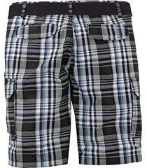 shorts men plus svart::vit::blå