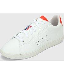 tenis lifestyle blanco-rojo le coq sportif