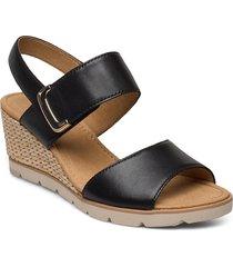 sandals sandalette med klack espadrilles svart gabor