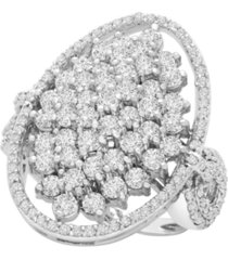 diamond (2 ct. t.w) oval ring in 14k white gold