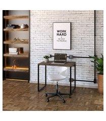 mesa de escritório kuadra marrom escuro 90 cm