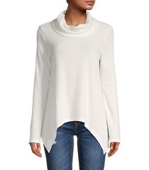 knit cowl-neck tunic
