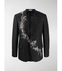alexander mcqueen printed single-breasted blazer