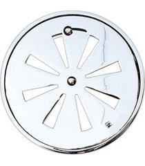 conjunto grelha regulável redonda 15cm alumínio polido