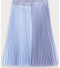 scotch & soda striped pleated midi skirt