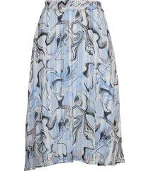 reemaiw skirt knälång kjol blå inwear