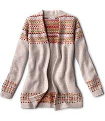 multicolor fair isle cardigan sweater