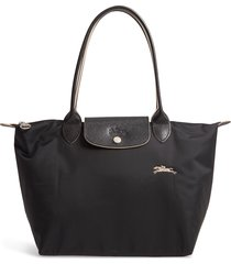 longchamp le pliage club small shoulder tote - black