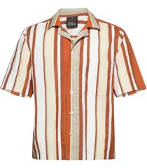 hilmer reg shirt wash overhemd met korte mouwen oranje oscar jacobson
