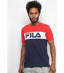 camiseta fila letter colors masculina - masculino