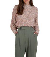 women's bb dakota to the moon dolman sleeve sweater, size large - beige
