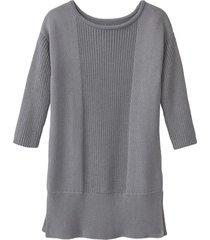 gebreide pullover van bio-katoen, grijs gots 36