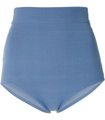 egrey classic high waisted bikini bottom - blue