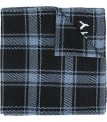 givenchy checked winter scarf - blue