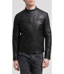 genuine black leather jacket new men slim fit biker motorcycle all size
