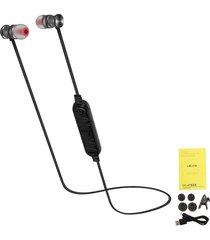 audífonos bluetooth manos libres, shuua le-236bl estéreo inalámbricos v4.1 deportivos música portátil auriculare con micrófono para sony iphone samsung - negro