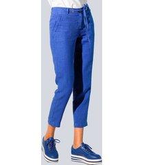 broek alba moda royal blue