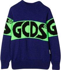 gcds mini purple sweater