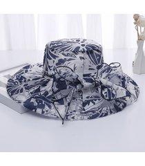 womens summer flowers printing wide brim sun cappelli casual cappello da spiaggia cap secchio