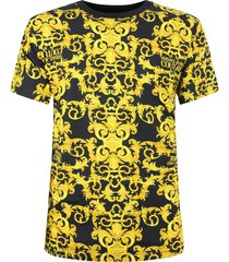 versace jeans couture versace t-shirt barocco nera uomo