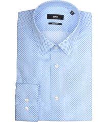 hugo boss eliott overhemd 50404852/452 overhemd licht blauw