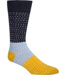 cole haan men's colorblocked dot socks