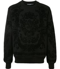 dolce & gabbana dg royal print sweatshirt - black