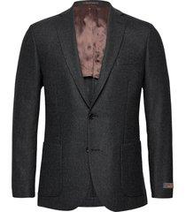 flannel jacket blazer colbert grijs morris