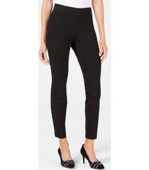 alfani petite wide-waistband exposed elastic skinny pants, created for macy's
