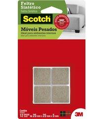 feltro scotch quadrado para móveis pesados grande