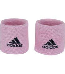 munhequeira adidas tennis s - 1 par - adulto - rosa claro