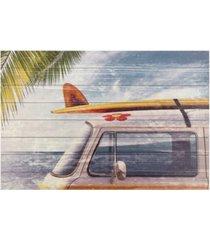 "empire art direct beach bound arte de legno digital print on solid wood wall art, 30"" x 45"" x 1.5"""