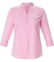 blouse staand kraagje en v-hals van anna aura roze