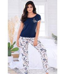 pijama mujer conjunto pantalón manga corta 11525