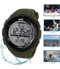 reloj deportivo skmei military led digital nadando buceo