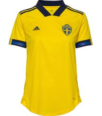 svff w h jsy t-shirts & tops football shirts geel adidas performance