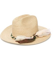 super duper hats yuma woven fedora hat - neutrals