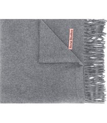 acne studios canada new fringed scarf - grey