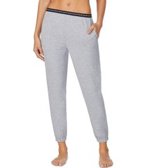 dkny sleepwear cropped knit jogger pajama pants