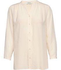 emma shirt blus långärmad vit modström