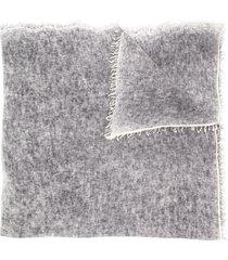 avant toi fine knit scarf - grey