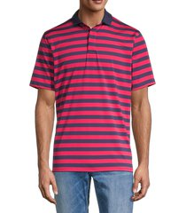 greyson men's stripe polo shirt - flamingo - size xl
