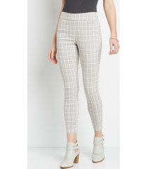 maurices womens plaid bengaline skinny ankle pants
