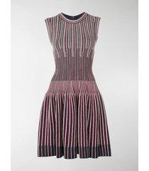 alaïa striped knit mini dress
