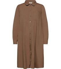 kabeata shirt dress knälång klänning grön kaffe