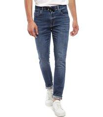 jeans desigual denim blas jogger azul - calce slim fit