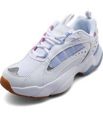 tenis lifestyle blanco-rosa-azul reebok royal pervader