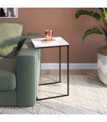 mesa auxiliar multifuncional apoio preto fosco lilies mã³veis - branco/preto - dafiti